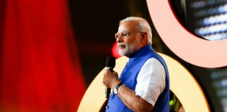 Prime Minister of India, Narendra Modi speaks on ending extreme poverty at the 2014 Global Citizen Festival in New York City. (Credit: Debby Wong/Bigstock)